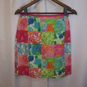 Lily Pulitzer patchwork skirt. Sz 2